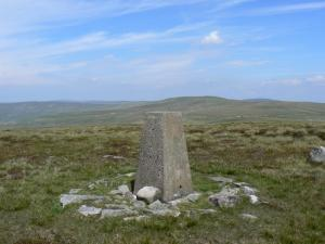 The trig point on the top of Fiend's Fell