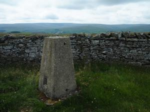 The Lintzgarth Common trig point on Windy Hill
