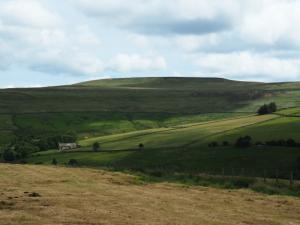 Rookhope's church below the slopes of Long Law