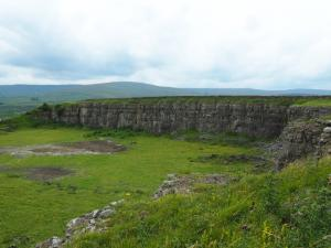 An old quarry beyond the ruins of White Hall