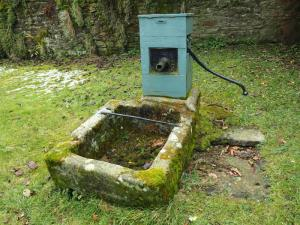 A water pump dated 1866