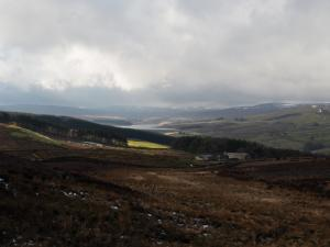 Looking up Lunedale towards Selset Reservoir