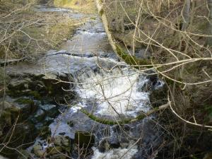 A waterfall on Hudes Hope Beck