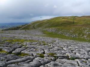 The superb limestone pavement to the west of Mount Ida