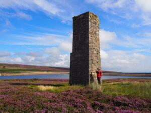 The chimney at Hisehope Reservoir