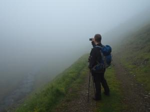 Our hopes of exploring Scordale were dashed by the fog