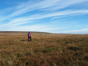 Paul heading for a pair of curricks on Murton Fell