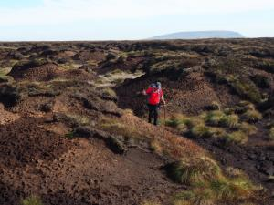 Paul negotiating an area of substantial peat hags