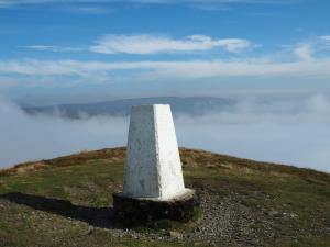 The trig point on Murton Pike