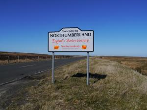 Much of the walk was in the south-west corner of Northumberland