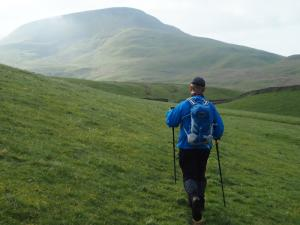 Paul heading for Roman Fell