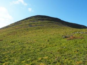 Looking up at Roman Fell