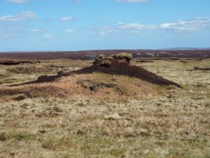 An unusually shaped peat hag