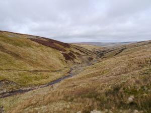 Dropping down into Cross Gill