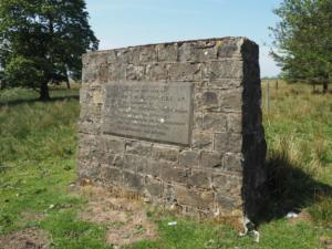 Plaque commemorating the opening of Balderhead Reservoir