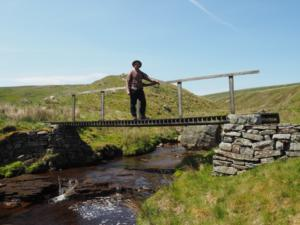 The footbridge over  Black Beck