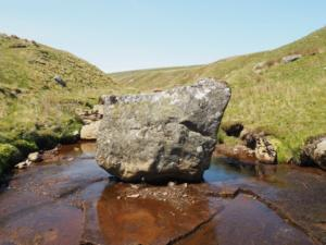 A large boulder in Black Beck