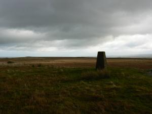 The Brown Rigg trig point on West Hare Crag