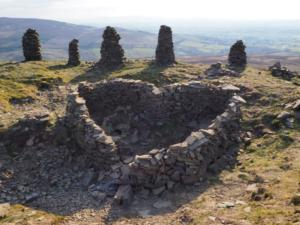 The heart shaped shelter on Talkin Fell