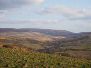 The view up Geltsdale towards Blotting Raise