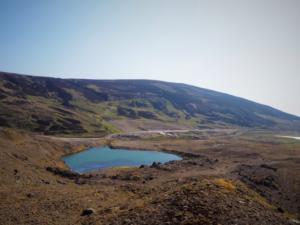Looking back across the mine reservoir towards Standards