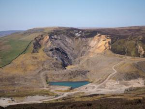 Looking back across at Closehouse Mine