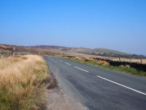 On the B6276 looking east towards How Top