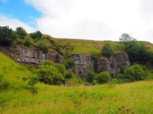An old quarry above the path