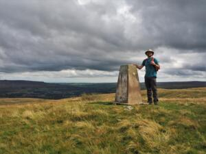 By the trig point on Crow Coal Hill