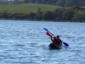 Out on the tarn kayaking with my daughter