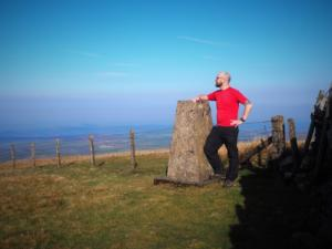 By the trig point on Thack Moor