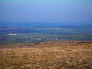Looking down towards Croglin