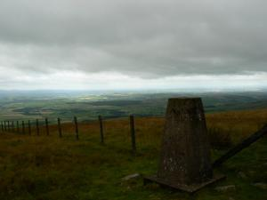 The trig point on Thack Moor