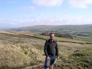 Climbing Smallburns Moor