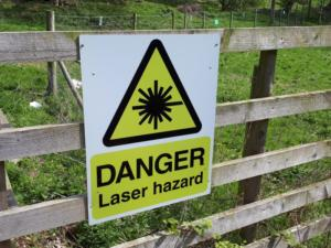 This was a new warning sign for  me - Laser hazard!