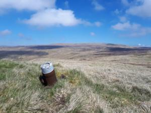 The shell embedded in the 622m spot height on Long Fell