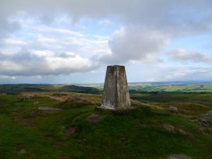 The trig point on Winshield Crags