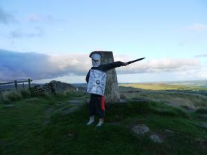 Liam by the trig point