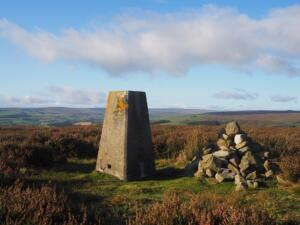 The Sand Edge Common trig point on the top of Wolsingham North Moor
